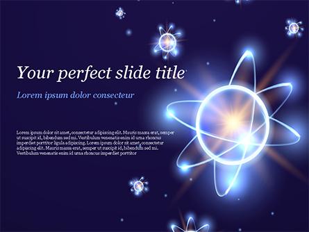 Shining Atom Model Presentation Template, Master Slide