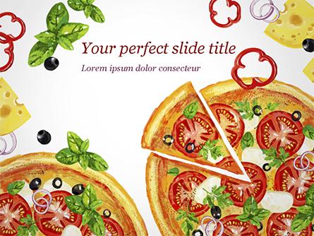 Margarita Pizza Presentation Template, Master Slide