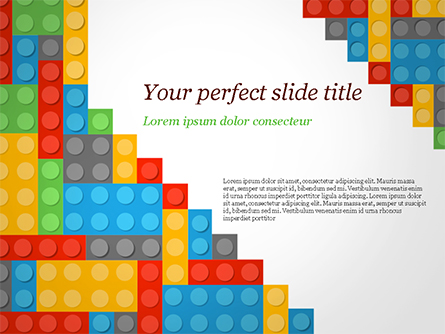 Lego Background Presentation Template, Master Slide