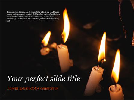 Burning Candles Presentation Template, Master Slide