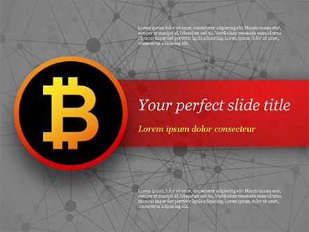 Bitcoin Icon Presentation Template, Master Slide