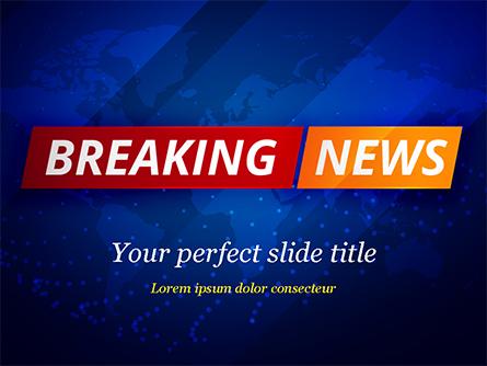 Breaking News Background Presentation Template, Master Slide