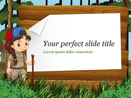Girl Scout Presentation Template, Master Slide