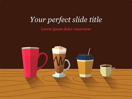 Hot Drinks Presentation Template, Master Slide