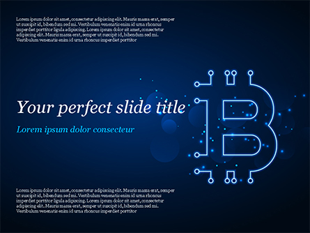 Digital Bitcoin Sign Presentation Template, Master Slide