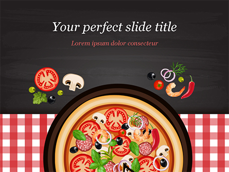Spicy Shrimp Pizza Presentation Template, Master Slide