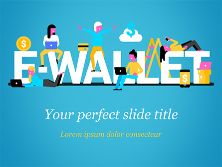 E-Wallet Presentation Template, Master Slide