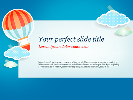 Cute Stickers Presentation Template, Master Slide