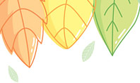 Cute Colored Leaves Presentation Template