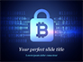 Digital Bitcoin Symbol inside Secure Lock slide 1