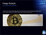 Digital Bitcoin Symbol inside Secure Lock slide 10