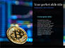 Digital Bitcoin Symbol inside Secure Lock slide 9