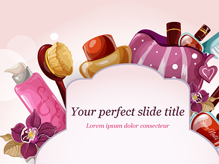Women's Cosmetics Presentation Template, Master Slide