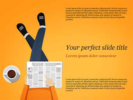 Coffee Break Presentation Template, Master Slide
