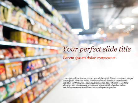 Supermarket Presentation Template, Master Slide