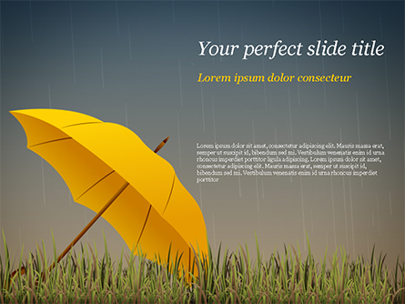 Bright Yellow Umbrella Presentation Template, Master Slide