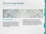 Torn Piece of White Paper on Azure Background slide 14