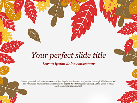 Autumn Oak Leaves Presentation Template, Master Slide