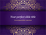 Purple Indian Pattern Presentation Template slide 1