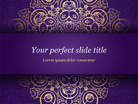 Purple Indian Pattern Presentation Template Presentation Template, Master Slide