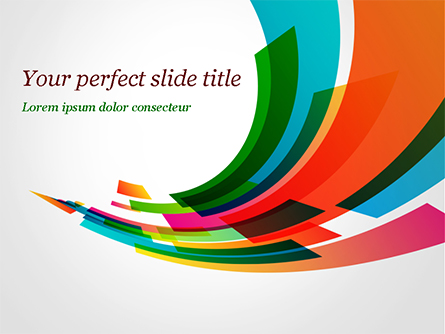 Colorful Stream of Rectangles Presentation Template, Master Slide