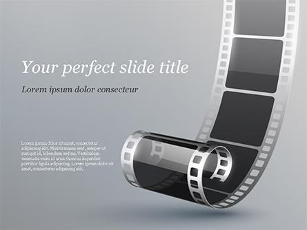 Black Film Strip Presentation Template, Master Slide