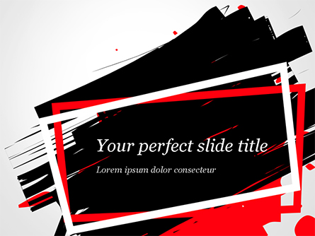 Black Friday Theme Abstract Presentation Template, Master Slide