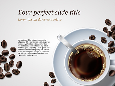 White Cup of Coffee Presentation Template, Master Slide