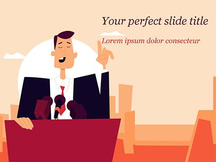 Politician Presentation Template, Master Slide