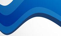 Blue Wavy Line Presentation Template