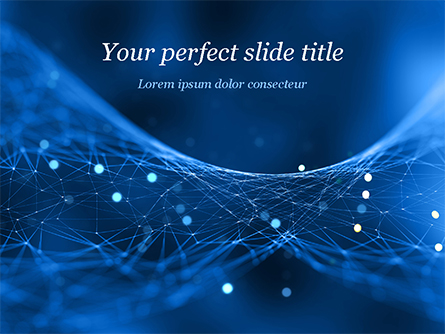 Abstract Blue Polygon Mesh Presentation Template, Master Slide