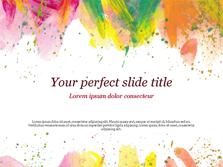 Colored Paint Strokes Presentation Template, Master Slide