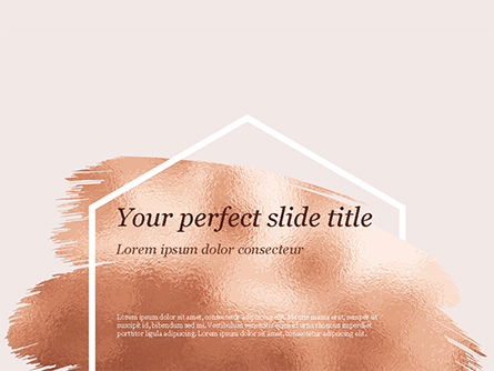 Soft Pink Background with Brush Strokes Presentation Template, Master Slide