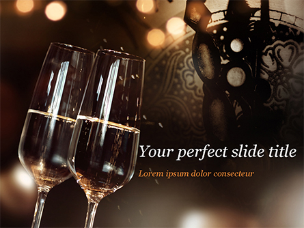 Celebrating with Champagne Presentation Template, Master Slide