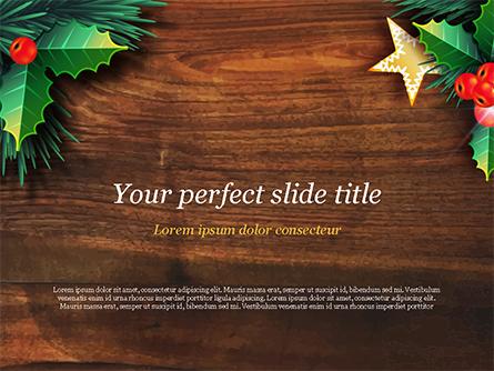 Christmas Mistletoe Presentation Template, Master Slide