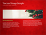 Christmas Tree Branches and Snowflakes slide 14