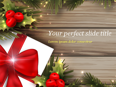 Cute Christmas Gift Presentation Template, Master Slide