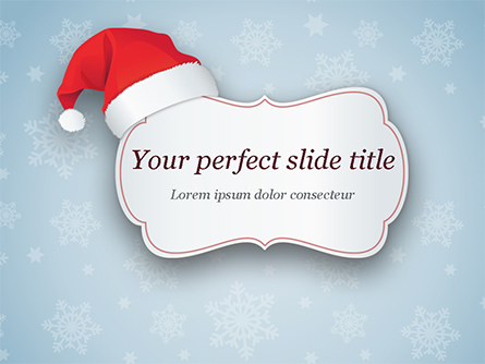 Snowflake Ornament and Santa Hat Presentation Template, Master Slide