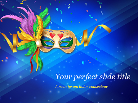 Carnival Mask Presentation Template, Master Slide