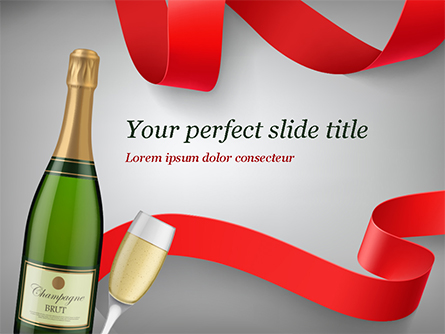 Celebration with Champagne Presentation Template, Master Slide