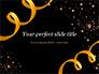 Golden Festive Ribbons slide 1