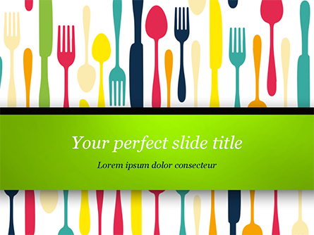 Cutlery Pattern Presentation Template, Master Slide