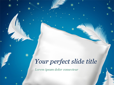 Pillow with Feathers Presentation Template, Master Slide