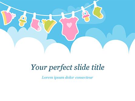 Baby Clothes Illustration Presentation Template, Master Slide