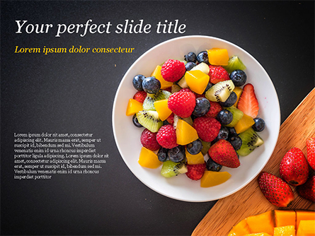 Fruit Salad Presentation Template, Master Slide