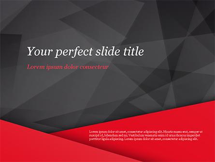 Red and Black Polygonal Background Presentation Template, Master Slide