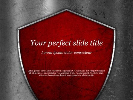Red Shield Presentation Template, Master Slide