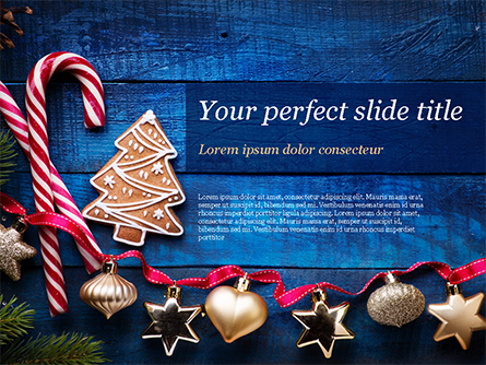 Christmas Decorations Presentation Template, Master Slide