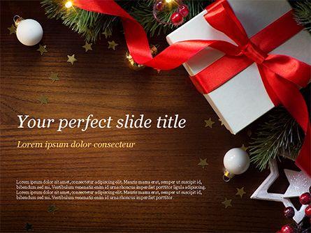 Christmas Gift Box Presentation Template, Master Slide