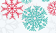 Colorful Snowflakes Background Presentation Template